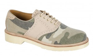 Look sharp mixing and matching materials with the camo trend in these Windsor Shoes by Dr Martens