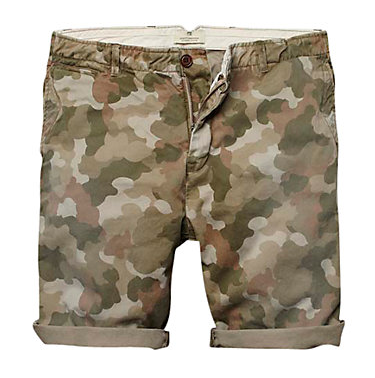 At ease solider in these camo print shorts by Scotch & Soda from John Lewis