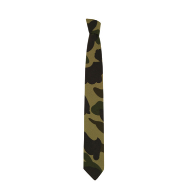 Not sure about the camo trend then add flashes of it with this tie from Mr Bathing Ape @ Coggles.com