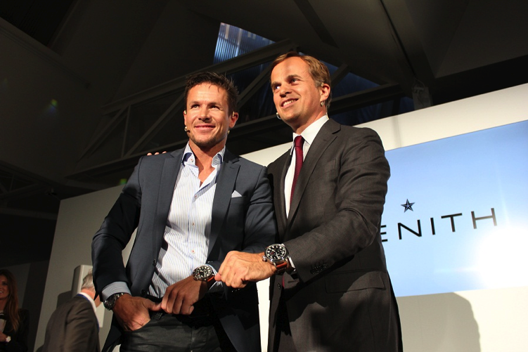 Austrian daredevil, Felix Baumgartner, helping to launch new range of Zenith Pilot watches