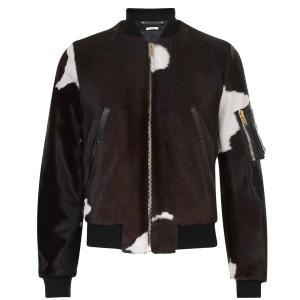 This cow skin bomber from Paul Smith is not for the faint hearted! A statement piece, it covers this seasons bomber jacket and animal print trends.
