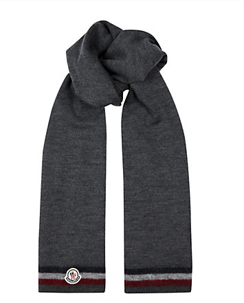 The scarf is a winter wardrobe necessity, we are in England after all! This simple tricolor tipped neckwear is a perfect example of understated style.