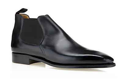 A glance back in history tells us that Chelsea boots are a solid bet for timeless winter style. Masion Corthay offer this classic pointed toe style which is both simple and elegant.