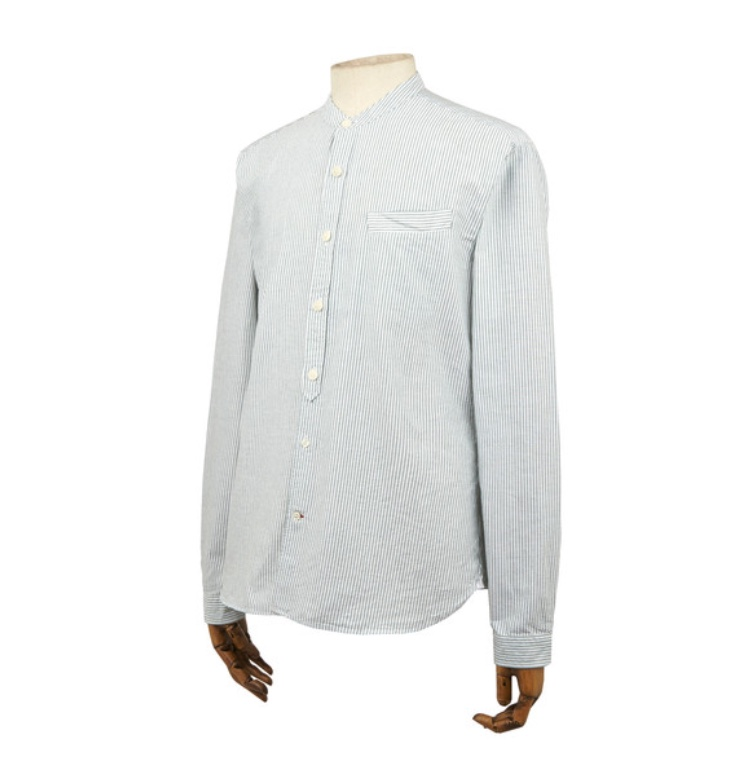 Oliver Spencer Grandad Shirt Ormesby Green