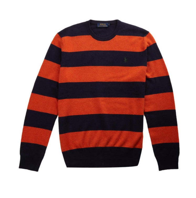 Polo Ralph Lauren Striped Wool Crewneck Sweater