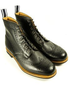 OSF31 Country Boot Black Leather - Oliver Spencer - £349