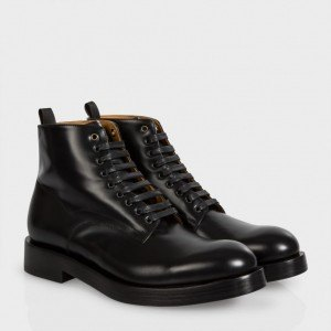 Black Calf Leather 'Kelly' Boots - Paul Smith - £370