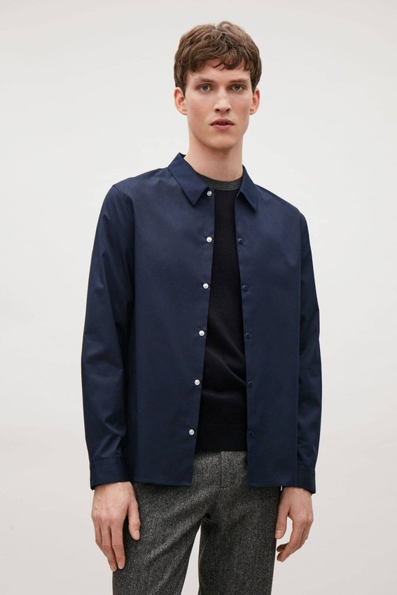 mens navy overshirt