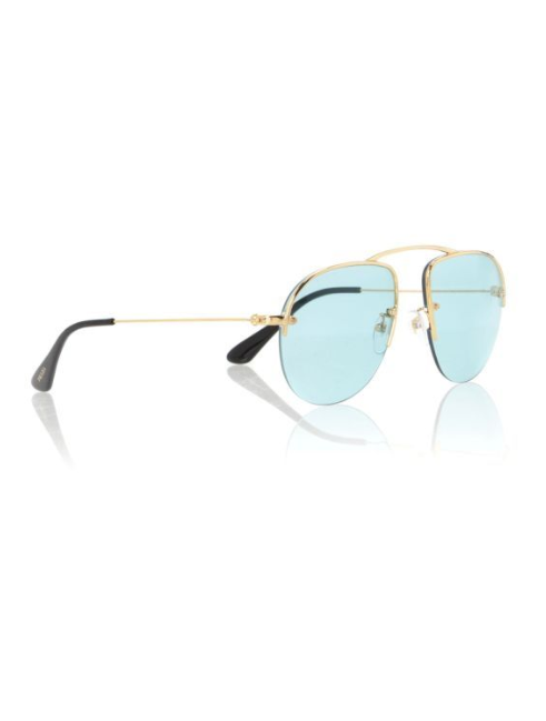 The classic aviator shape is a must-have for the summer season. Parallel Universe sunglasses £250 Prada