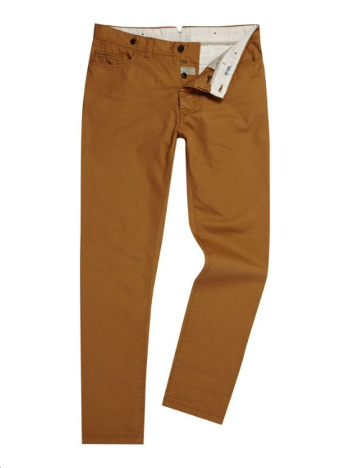Our Linea chinos are a staple item for our customers. We try to cover the main colours for each season.These mustard chinos are a great every-day way to channel the yellows that were seen at the shows. Mustard chinos £55 Linea