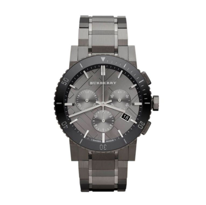 Heratige men's watch £825 Burberry What men's outfit is complete without a great watch?  This chunky timepiece from Burberry is bold enough to make a statement, but without stealing the show.