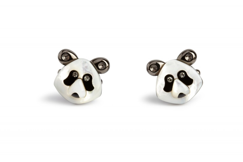 The Darwin Panda Cufflinks - Just one of the many examples of cufflinks by Mr Carter