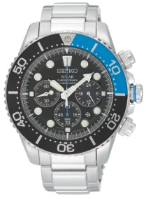 Now then, SEIKO invented the quartz chronograph back in 1983. This particular model has Hardlex Glass and is Water Resistant to 100m.