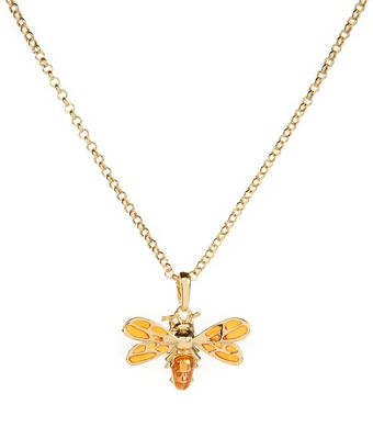 You can't go wrong with jewellery and big isn't always better. The ladies do like nice delicate, tasteful pieces like this bumblebee from Ted Baker