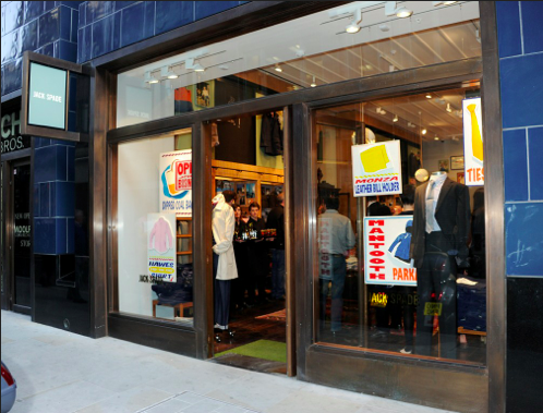 The jack spade store on Brewer Street in London.