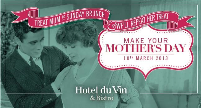 Let your mum take a break from the old route and treat her like the lady she is. Numerous establishments will be offering Mothering Sunday deals. One of our favourites here at Clothes Make the Man was from the Hotel du Vin, who have 14 hotels from Edinburgh to Poole. They are offering Sunday Brunch for mums £29.95 per person, and your mum gets an gift voucher for her next Sunday brunch at Hotel du Vin.