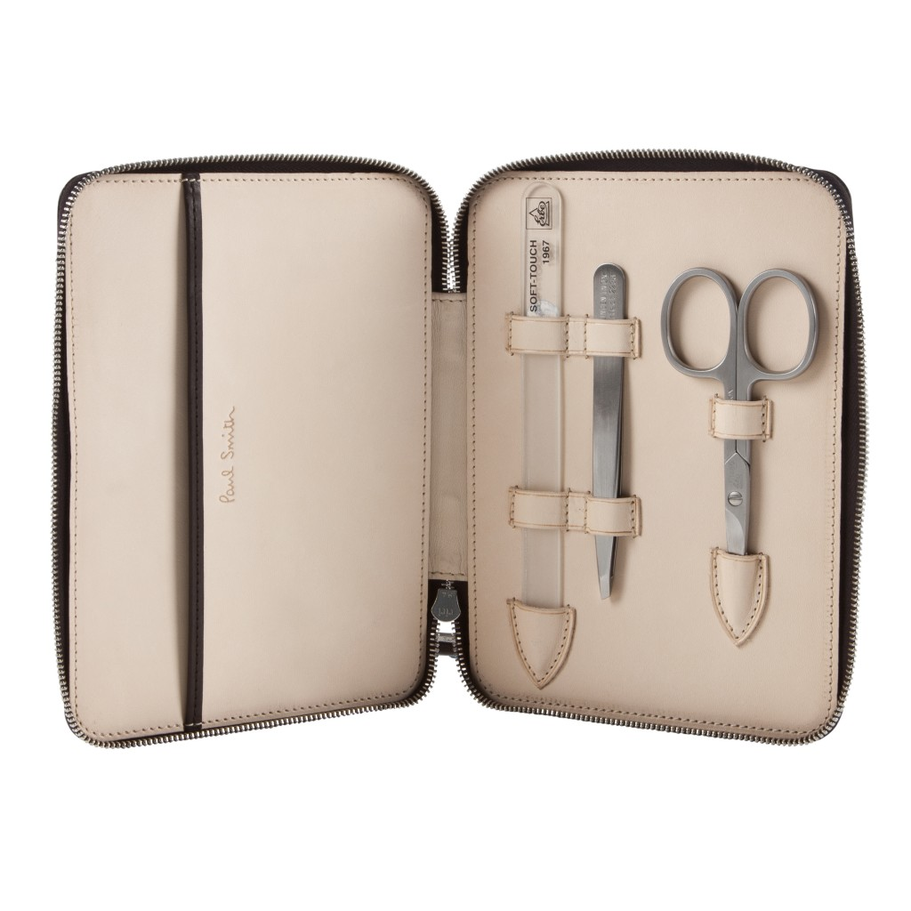 Look after the hands that looked after you. This stylish leather bound Manicure set from Paul Smith, will not only leave her hands in fine fettle but will make you apple of her eye for such a thoughtful gift.