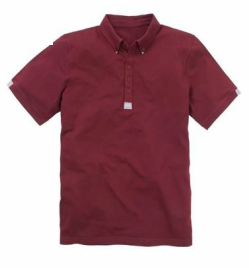 Channel your inner Mod in this burgundy button down polo by Black Label at Jacamo