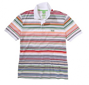 Be safe be seen, liven up any outfit with this multi striped polo from Hugo Boss