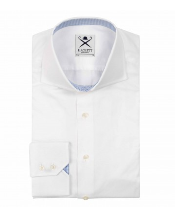 This fine Oxford shirt by Hackett with button down collar in the Clifton. With cutaway collar, two button mitred cuff, made from the finest woven cotton.