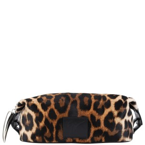 Giuseppe Zanotti Leopard Print Wash Bag The wash bag is an essential for any man – if you don't choose to wear leopard print this season, infuse it into your accessories to stay on-trend.