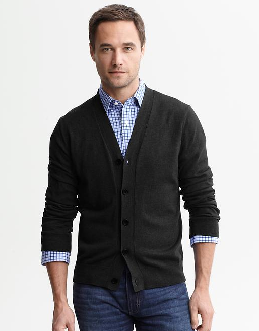 The classic fine gauge cardigan. IT GOES WITH EVERYTHING 1 It looks equally good with a single breasted suit and it both with jeans and this is a great example at a great price