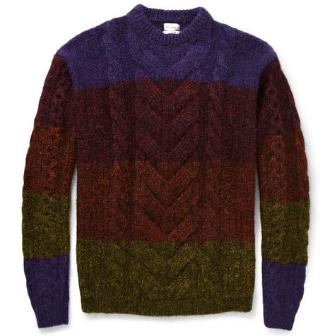 Colour my life, there's no chance of going missing in the snow if you're wearing this knit by Paul Smith from MRPORTER.com