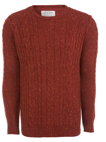 This is a great example of a cable knit from high Street favourite Burton.