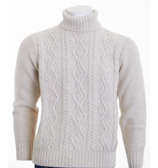 Well you can't get more authentic then an actual Aran Sweater which is produced on the Aran Islands themselves. This is by Inis Meain for galvinformen.com