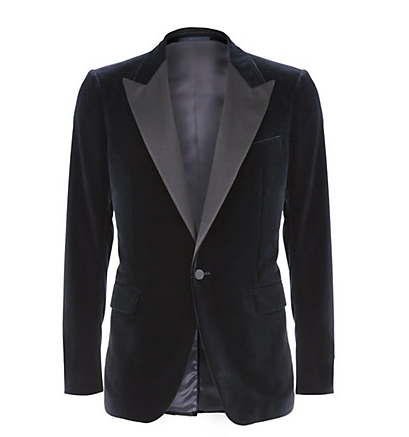 This Lanvin tuxedo jacket is a perfect partner to any number of tailored trousers, the peaked satin lapels offer a classic addition to this modern eveningwear item.