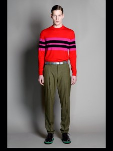 An example if Jonathan Saunders for Lyle & Scott