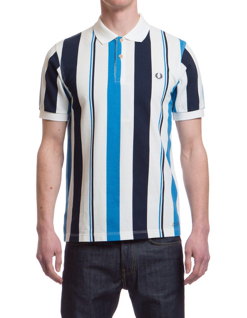 Fred Perry Tipped Seaside Shirt in Kingfisher