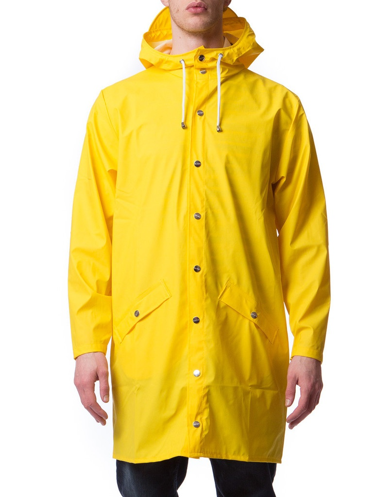 Rains Long Jacket in Yellow