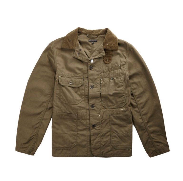 Engineered Garments Coverall Jacket Olive Nyco Reversed Sateen
