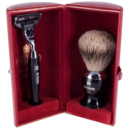 Ken Black and Chrome Shave Set