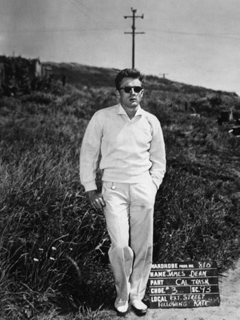 Look 3: The outfit worn on the set of the film 'East Of Eden' in 1954.