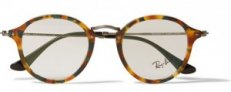 £130 Mottled Acetate Round Frame Glasses|Ray Bans