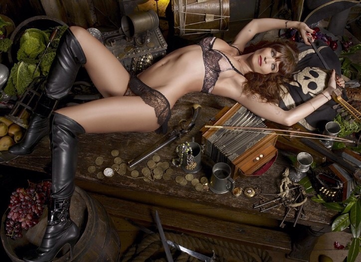 Helena in the iconic Agent Provocateur campaign