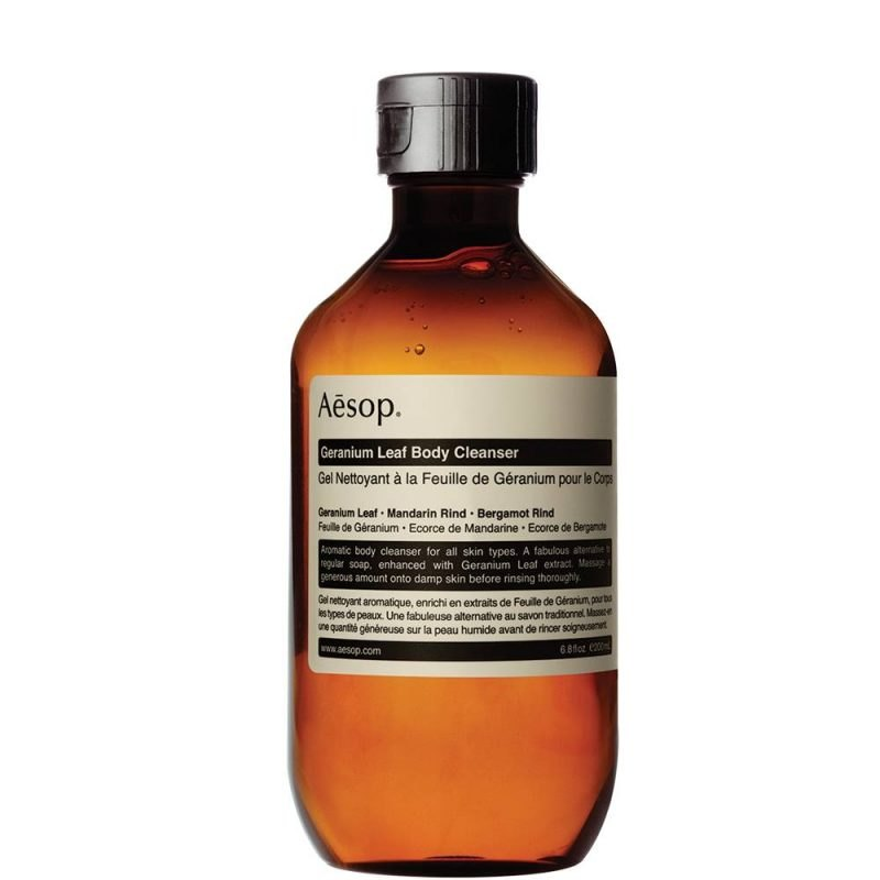 The Aesop Geranium Leaf Body Cleanser Is A Mighty Botanically Enhanced  Cleanser That Gently Removes Grime, Banishes Odour And Leaves The Skin  Beautifully ...