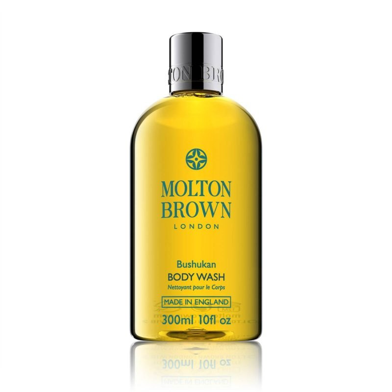 this molton brown bushukan body wash is a refreshing and indulgent bath and shower gel blended with thai bushukan fruit a member of the